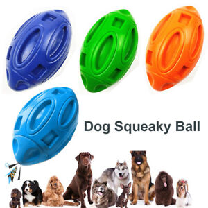 Squeaky Dogs Toys for Aggressive Chewers Rubber Puppy Chew Ball with Squeaker'