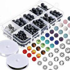 Paxcoo Lot de 500 perles de lave en pierre avec perles chakra et perles
