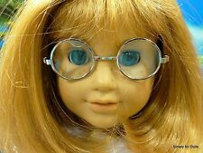"""**SALE** SILVER Wire Rimmed DOLL EYE GLASSES fits 18"""" AMERICAN GIRL Doll Clothes"""