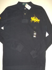 NWT Mens Ralph Lauren Dual Match Pony Long Sleeve Mesh Polo Shirt S Small NEW