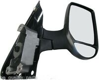 FORD TRANSIT MK6 MK7 00- ELECTRIC HEATED RIGHT BLACK SHORT ARM DOOR WING MIRROR