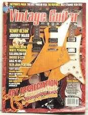 VINTAGE GUITAR MAGAZINE JOHNNY MARR KENNY OLSON ART APPRECIATION DOUG DOPPLER!!!