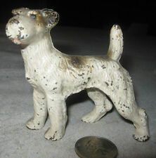 Antique Hubley Usa Cast Iron Fox Terrier Airedale Dog Art Paperweight Toy Statue