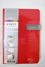 """Arwey """"Laur"""" 4.25"""" X 6.5"""" Hardcover Blank 208 Page Notebook, Journal - Red"""