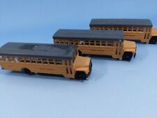 Bachmann - Ho Scale Tracksters School Bus Lot of 3 - Union Pacific
