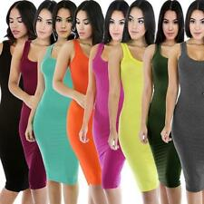 Womens Summer Bandage Bodycon Sleeveless Evening Party Cocktail Short Dress JJ
