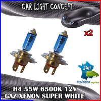 ampoule xenon H4 de voiture 55 w 12 v SUPER WHITE pour phare blanc optique X 2
