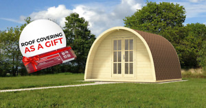LIMITED OFFER! Camping POD 4 x 3 m + GREY SHINGLES AS A GIFT/free delivery*
