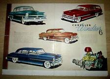Dépliant Chrysler Windsor 6 et Windsor 6 Deluxe