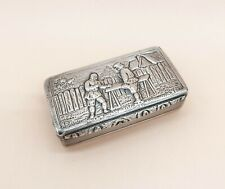 1834 d. English Georgian Sterling Silver Snuff Box, by Edward Smith, Birmingham