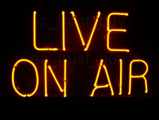 """New Live On Air Light Lamp Neon Sign 20""""x16"""""""
