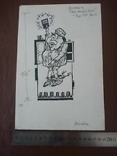 "Zhou Enlai la Chine Communiste Chinois Mao pen & ink ORIG 20th C illus ""Bill Hewison"""