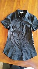 Cue 2 x Black and Orange button up career Shirts sz6 BNWOT free post E1