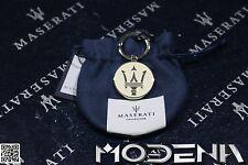 Original Schlüsselanhänger Tridente Dreizack Schriftzug Key ring Maserati weiss