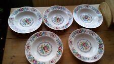 5 x J & G Meakin Soup Plates, Art Nouveau, c1912