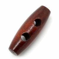 Knebelknöpfe verschiedene Größen Hornknopf Coffe Braun Dunkel Toggle Button