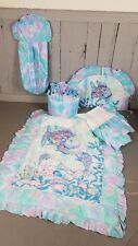 Kidsline Rainbow Fish Ocean Nursery Crib set Quilt Blue Ruffle bumper skirt diap