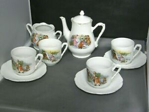 Child's Tea Set Items-Father Christmas & the Children-Germany-Victorian-Teapot +