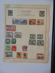PA 383 - Double Sided Page Of Mixed South Africa Stamps