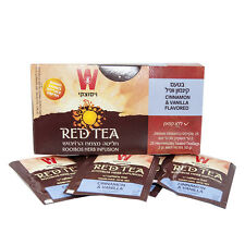 Natural Israel Red Herbal Tea Cinnamon & Vanilla Caffeine Free Wissotzky 25pcs