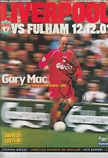 Gary McAllister Mano Firmada Liverpool programa 2001.