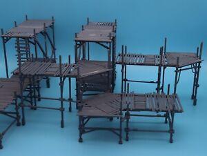 Scaffolding building terrain set - Necromunda, Warhammer 40k, , D&D, 28mm scale