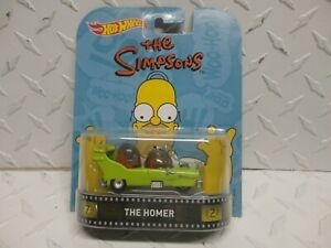 Hot Wheels Retro Entertainment The Simpsons Green The Homer