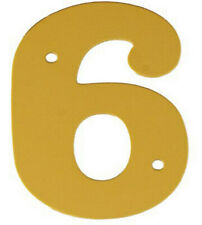 2'' Gold Anodised Numeral 6
