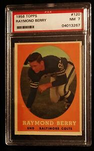 1958 Topps #120 Raymond Berry PSA 7
