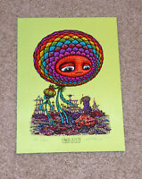 Marq Spusta Flowers In Filth 2020 Serigraph Art Print Poster Green Paper S/# 11
