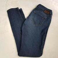 Mavi 29/32 Low Rise Super Skinny Dark Wash Jeans Cotton Blend