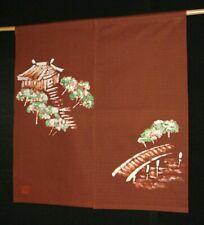 Kyoto Yamadera Temple Noren Door curtain Roketsu Dye Handpaint 85x90 Japan