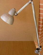 Lampe Super Chrome, lampe d'atelier à étau années 50