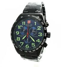 Swiss Military Hanowa 06-5268.13.003 caballeros reloj Chrono acero inoxidable negro azul
