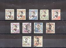 CANTON CHINE Colonie française bureau indochinois lot de 11 timbres surchargés