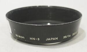 Genuine OEM Nikon HN-3 Metal Lens Hood Screw-On 52mm f/ 35mm, 43-86mm etc #746