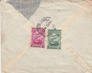 P2778 New Goa Dec 1956? Cover  air UK; 2 stamps
