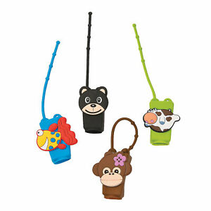 Animal Mini Hand Cleanser Holders - 6 Pieces