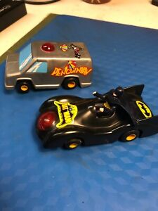 RARE-Polistil Batman & Penguin 1/43 Scale Slot Cars... Working...1979..