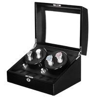 Automatic Mute Rotation Watch Winder 4+6 Watch Storage Display Box 5 Modes+LED
