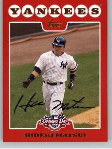 2008 Topps Opening Day  #181 Hideki Matsui - New York Yankees