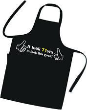 71st BIRTHDAY Apron / Cook / Chef / Tabard / BBQ / Hotel / Xmas / BBQ / Party