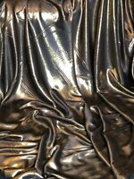 """3 X Meter Black /gold Shimmer Satin Fabric Bridal Dress Evening 58"""" Wide Party"""