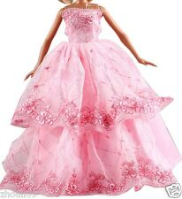 Hot Handwork soft Princess Party Dress/Evening Clothes/Gown For Barbie Doll  099