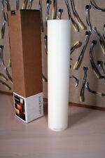 AMABIENTE COCOON_3 KERZE Candle Elfenbein Ivory rund Handgefertigt 6x30cm #8253