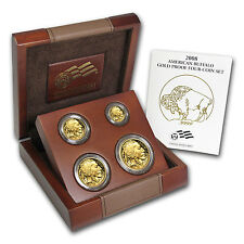 2008-W Proof Gold Buffalo 4 Coin Set - with Box and Certificate - SKU #52537
