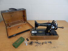 Vintage Singer 99K Hand Crank Sewing Machine In Case + Extras ~ 1952 ~  Working