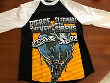 Pierce The Veil Sleeping With Sirens 2014 Tour T Shirt Retro 3/4 Jersey Small