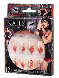 Vampiress Vampire Nails Halloween Fancy Dress Beauty Cosmetics Accessories