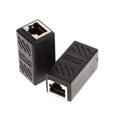 2Pcs RJ45 Coupler Female Connector Jack Adapter Network Cable Extender Shielded